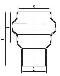 KGUS prechod kamenina - PVC